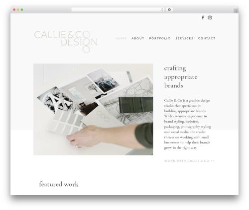 WordPress theme Divi - callieandcodesign.com