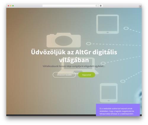 WP template OnePage Parallax - altgr.hu