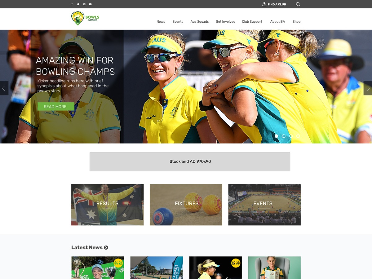 BowlsAustralia theme WordPress