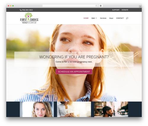 Divi WordPress theme - lagrangepregnancy.com