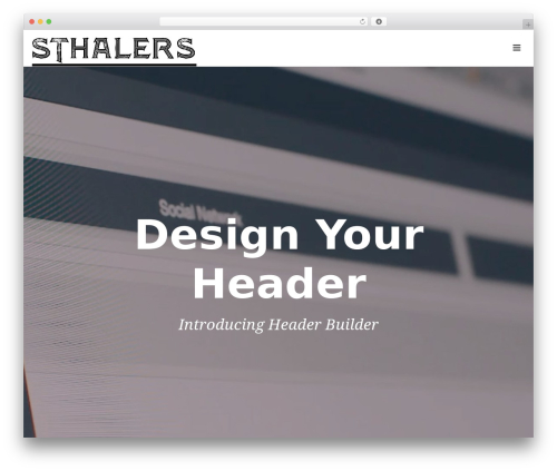 Jupiter WordPress theme - sthalers.com