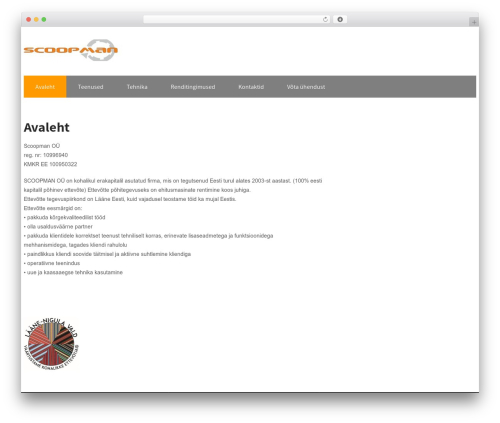 Maintenance Services best WordPress template - scoopman.ee