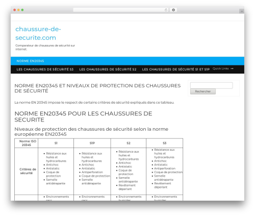 New Shop theme WordPress - chaussure-de-securite.com