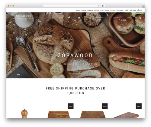 ShopIsle PRO WordPress website template - zopawood.com