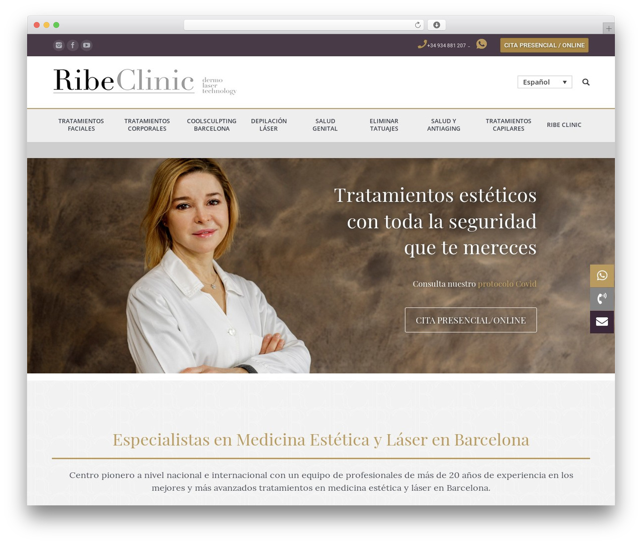 The7 WordPress theme - ribeclinic.com