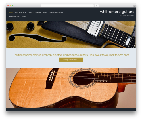 Theme WordPress Callaway - whittemoreguitars.com