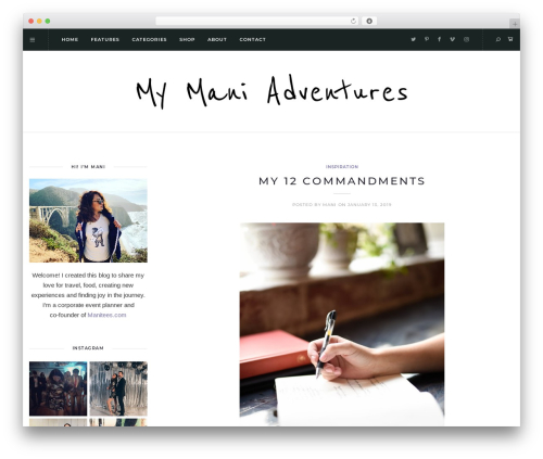 Theme WordPress Solien - mymaniadventures.com