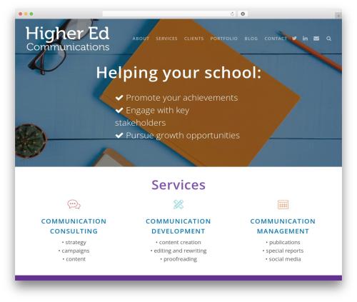 TheSaaS WordPress website template - higheredcommunications.com