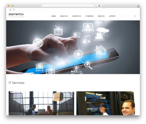 WordPress template Consulting - digitwitch.com
