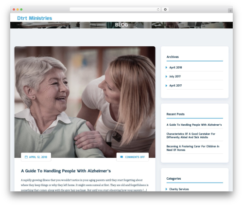 WordPress theme Sciencex Lite - dtrtministries.com