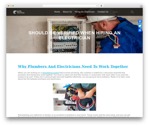 WP theme Lawyer WP - findmyelectrician.com