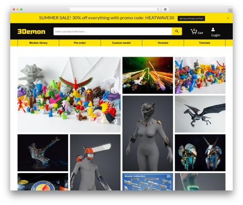 3D mon theme WordPress - 3d-mon.com
