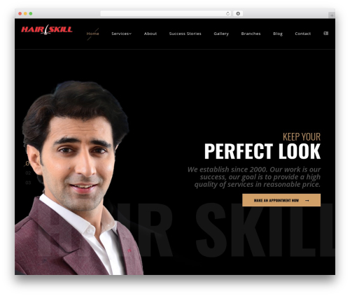Barber WordPress page template - hairskill.com
