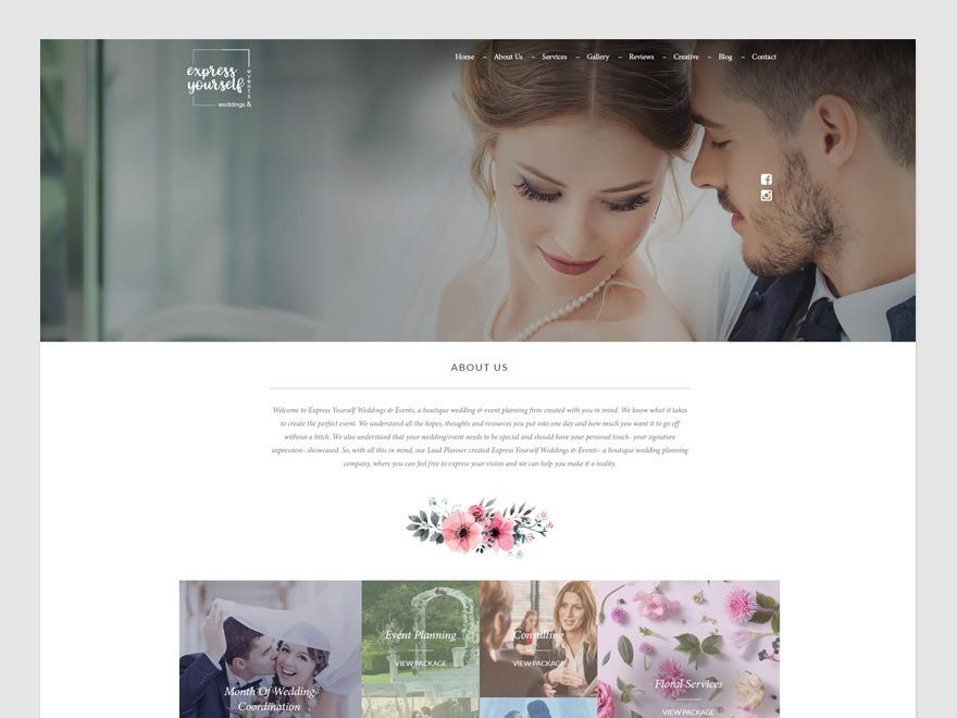 Express Yourself WordPress theme design