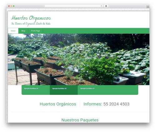 Health-Center-Pro WordPress template - huertosorganicos.com