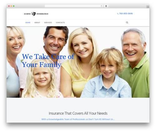 Insurance-Ancora template WordPress - cluneinsurance.com