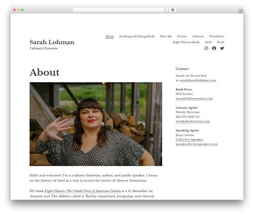 Libre 2 WP theme - sarahlohman.com