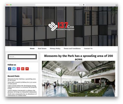 Meritorious WordPress theme - 137cha.com