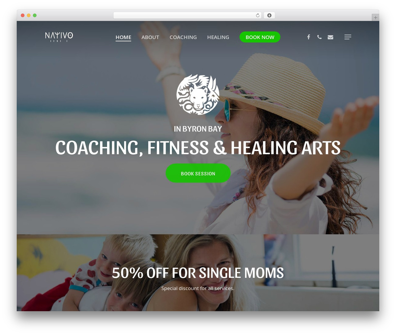 Salient fitness WordPress theme - nativohealth.com