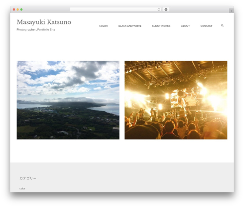 Simple Melody WordPress theme - masayuki-katsuno.com