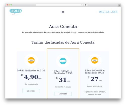 Sunergy WP theme - aoraconecta.com
