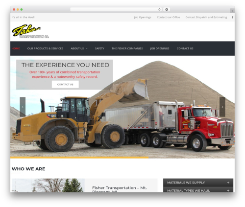 TheBuilt WordPress theme - fishertransportation.com