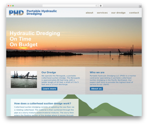 Theme WordPress JointsWP - Sass - phdredging.com