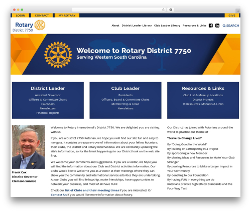 Veda WP template - rotary7750.org