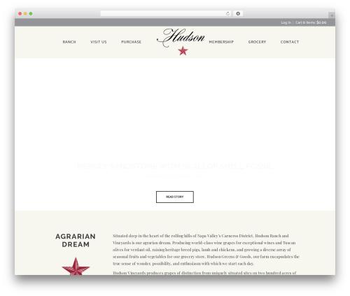 Vino WordPress theme - hudsonranch.com