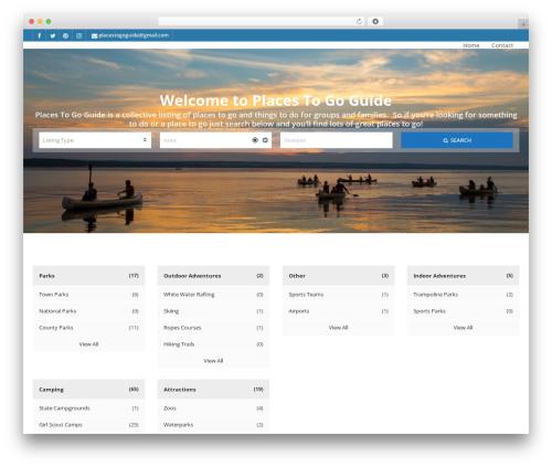 WordPress template Pointfinder - placestogoguide.com
