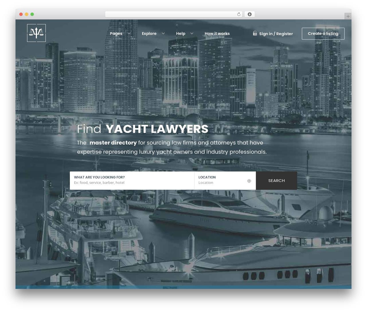 WordPress template WhiteLab - yachtlawyers.com