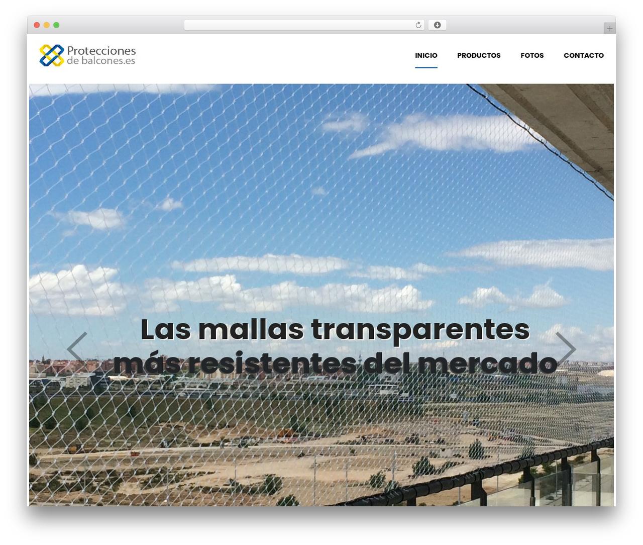 WordPress theme Shopscape - proteccionesdebalcones.es