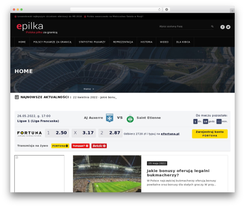 WordPress website template GoalKlub - epilka.pl