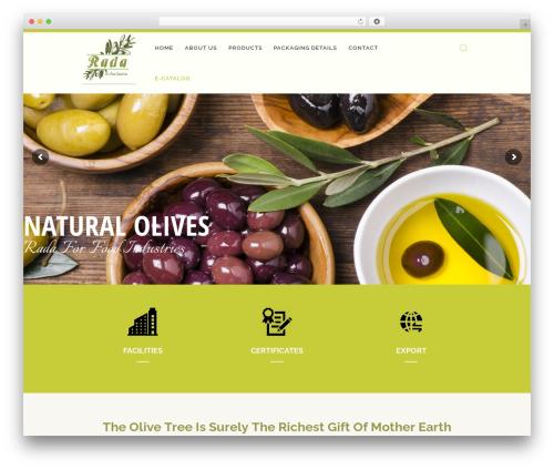 WP theme OliveOil - radaolives.com