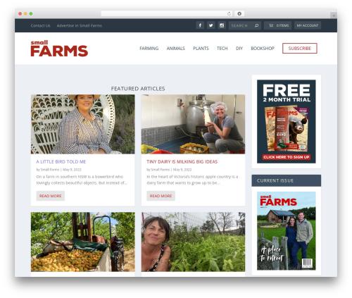Extra template WordPress - smallfarms.net