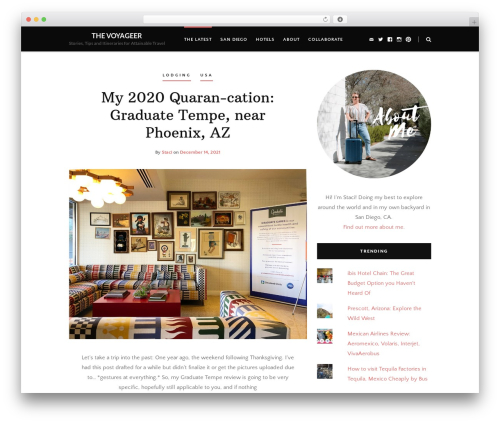 Heart and Style WordPress travel theme - thevoyageer.com