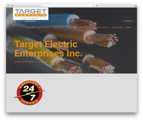 Primer best WordPress template - targetelectric.biz