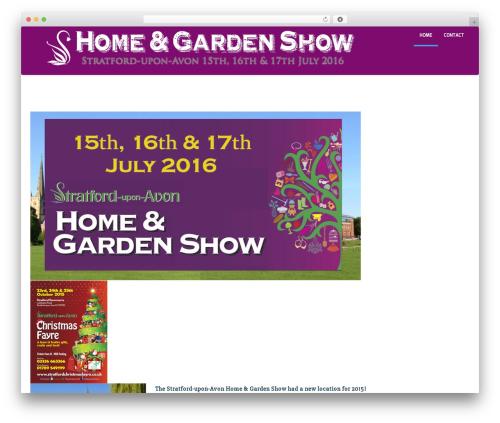 Sciencex Lite garden WordPress theme - stratfordhomeandgardenshow.co.uk
