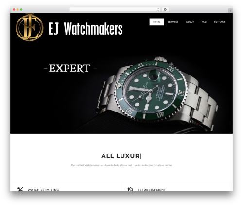 The Ocean best WordPress template - londonrolexservice.com