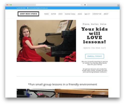 WordPress website template Divi - ashbymusicstudio.com