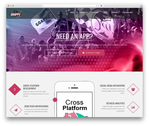 Applay WordPress theme - goappz.net