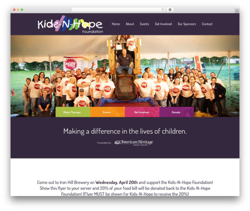 Children Charity template WordPress - kidsnhope.org