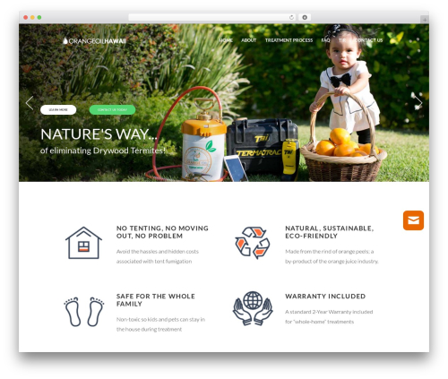 Eco Press WordPress theme - orangeoilhawaii.com
