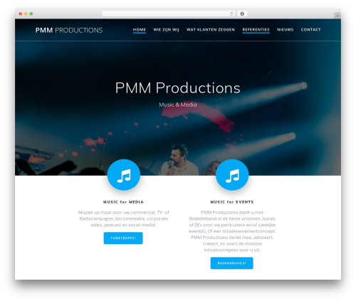 Mesmerize WordPress theme free download - pmmproductions.com
