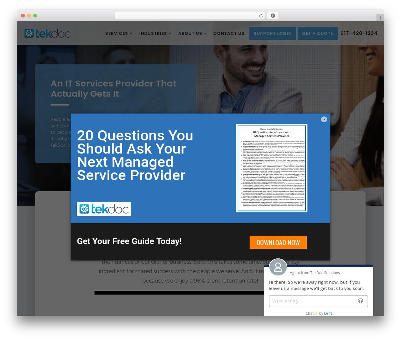 Movedo WordPress theme - tekdocsolutions.com