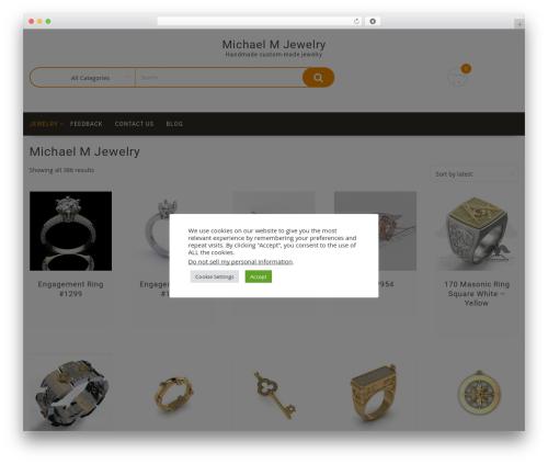 Multicommerce template WordPress - michaelmjewelry.com