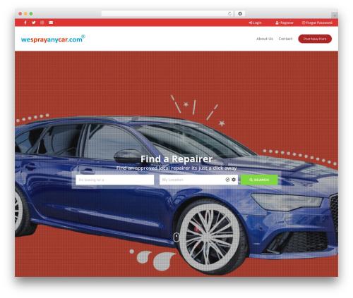 Pointfinder WordPress theme design - wesprayanycar.com