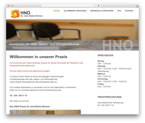 Poseidon template WordPress free - hno-praxis-bremer.de