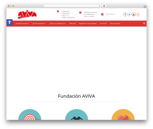 Promote top WordPress theme - avivasalamanca.org