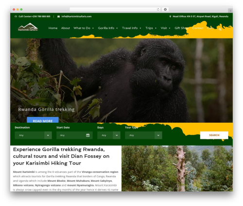 Theme WordPress Aventura - karisimbisafaris.com